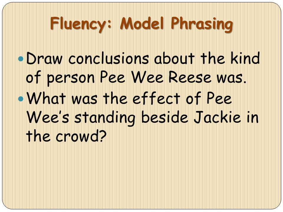 Fluency: Model Phrasing