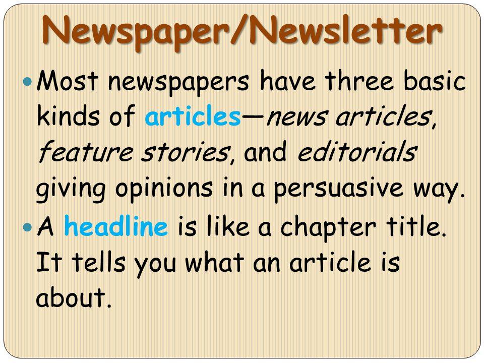Newspaper/Newsletter