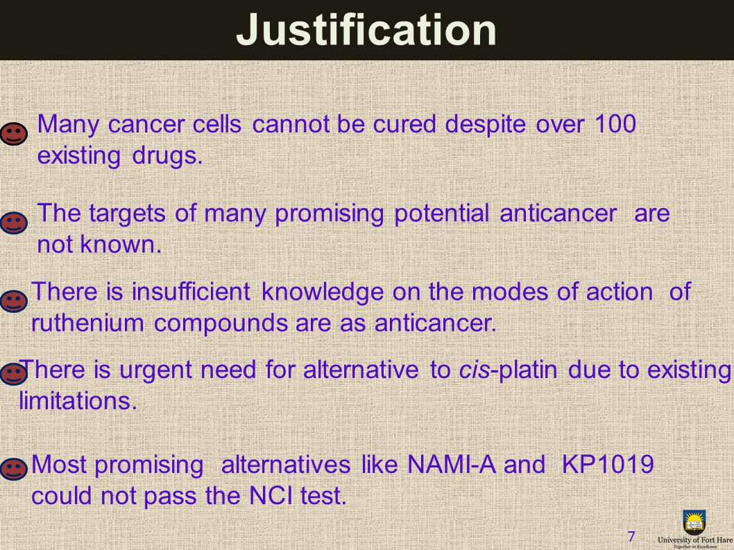 Justification Many cancer cells cannot be cured despite over 100