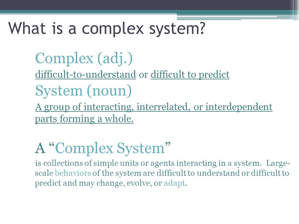 What is a complex system