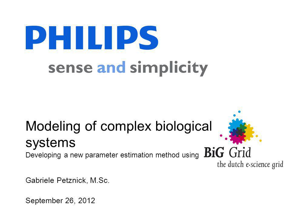 Modeling of complex biological systems Developing a new parameter estimation method using