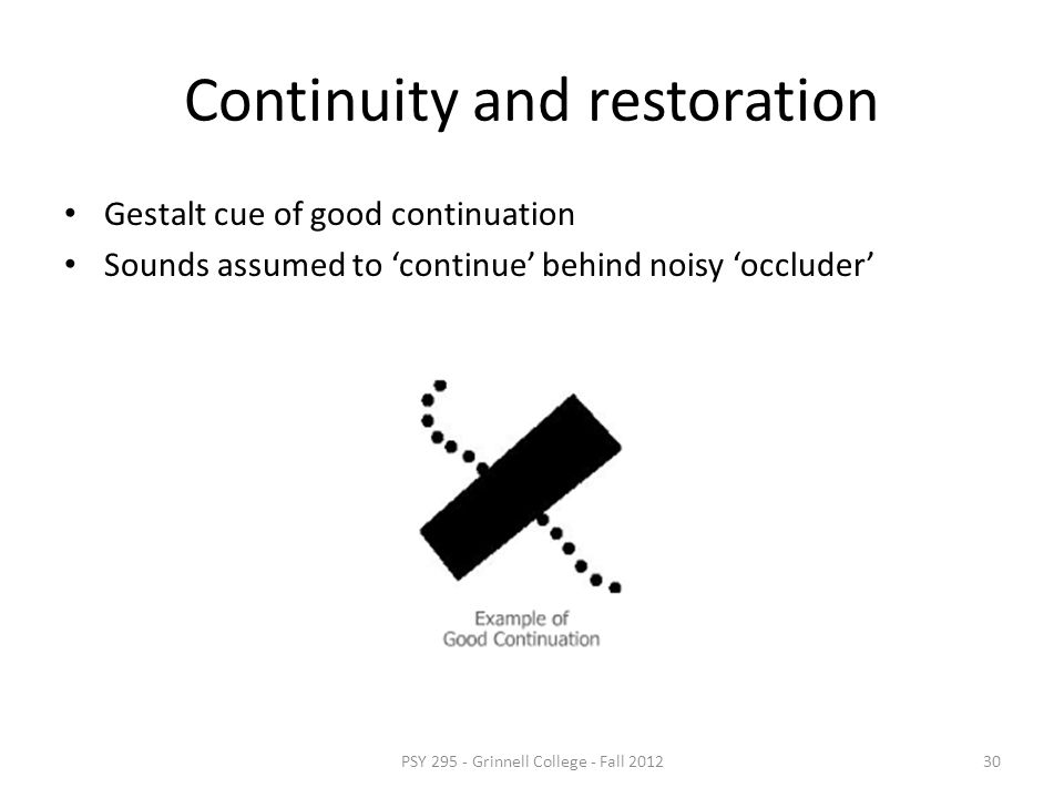 Continuity and restoration