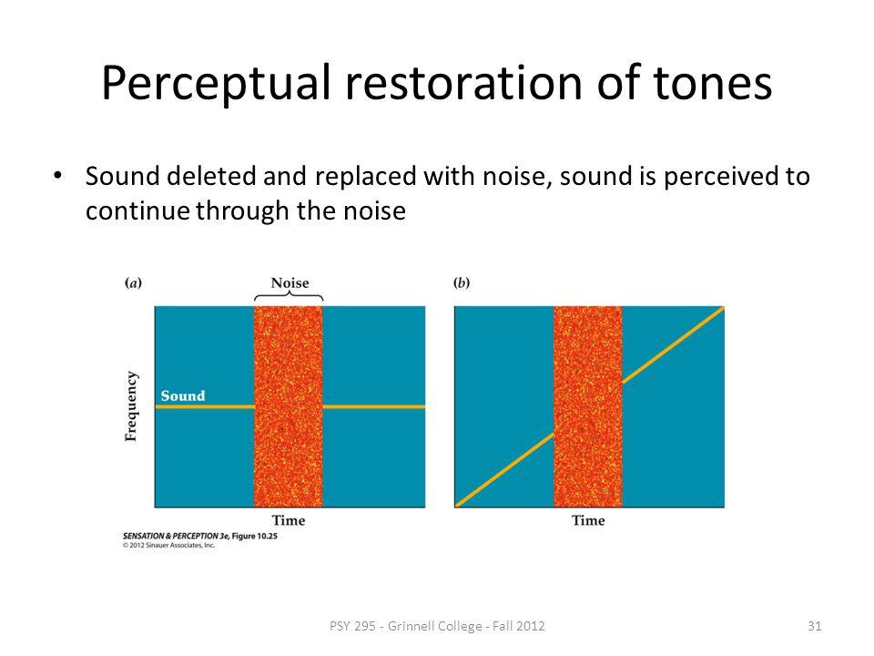 Perceptual restoration of tones
