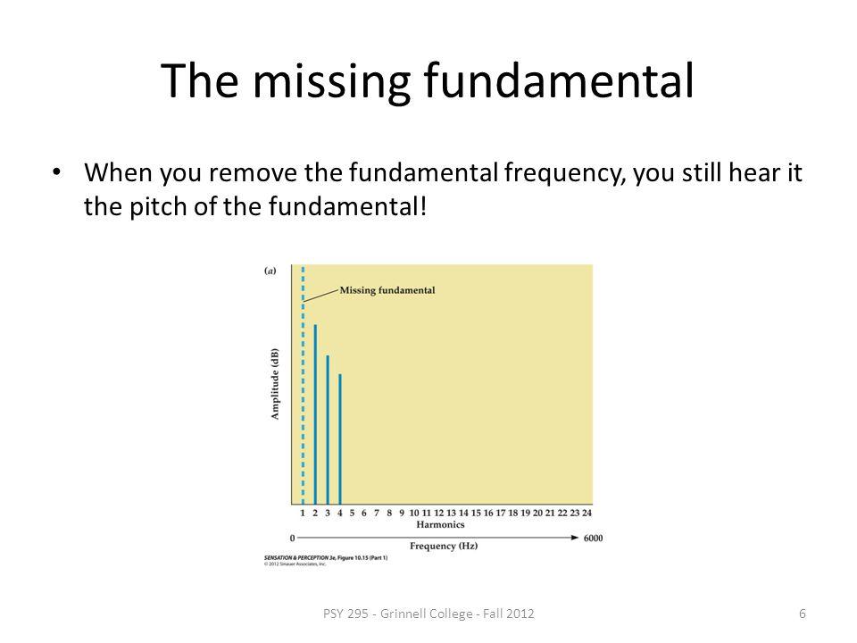 The missing fundamental