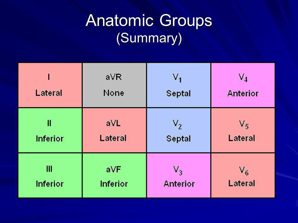 Anatomic Groups (Summary)