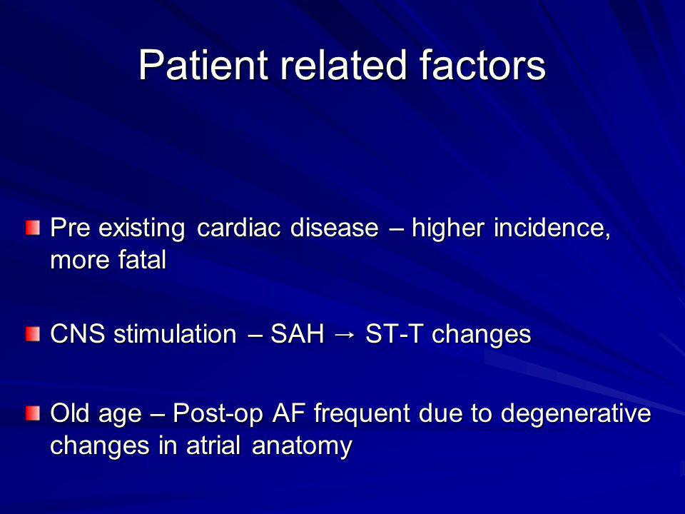 Patient related factors
