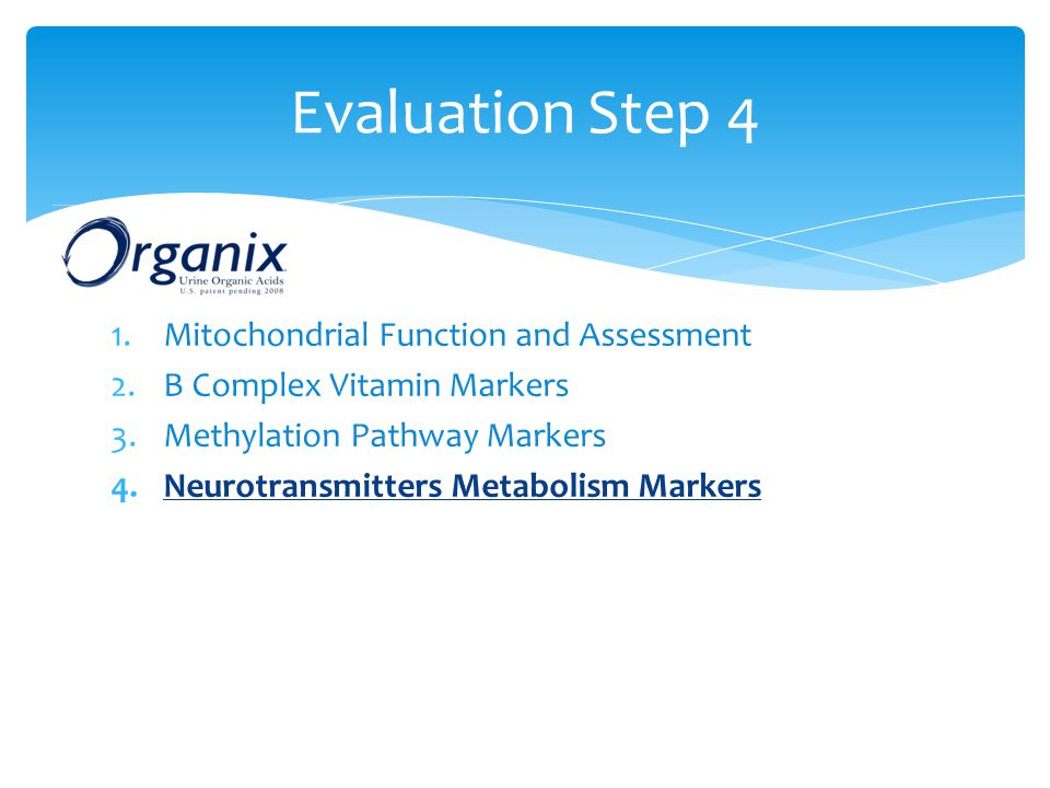 Evaluation Step 4 Mitochondrial Function and Assessment