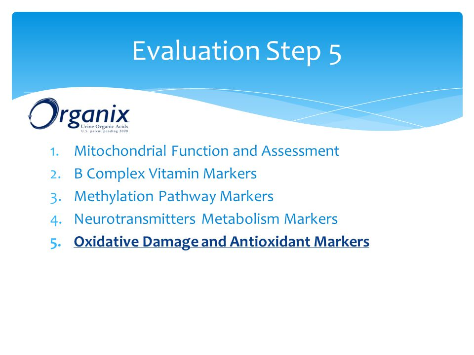 Evaluation Step 5 Mitochondrial Function and Assessment
