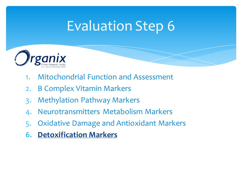 Evaluation Step 6 Mitochondrial Function and Assessment