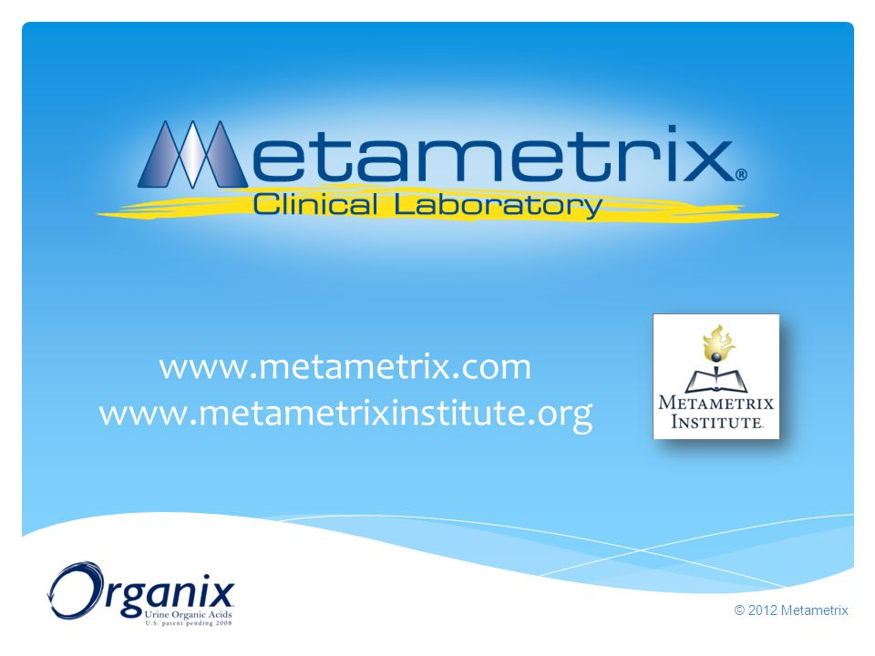 www.metametrix.com www.metametrixinstitute.org