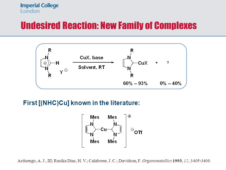 Undesired Reaction: New Family of Complexes