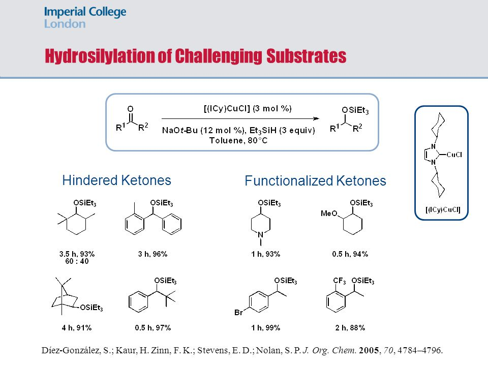 Hydrosilylation of Challenging Substrates