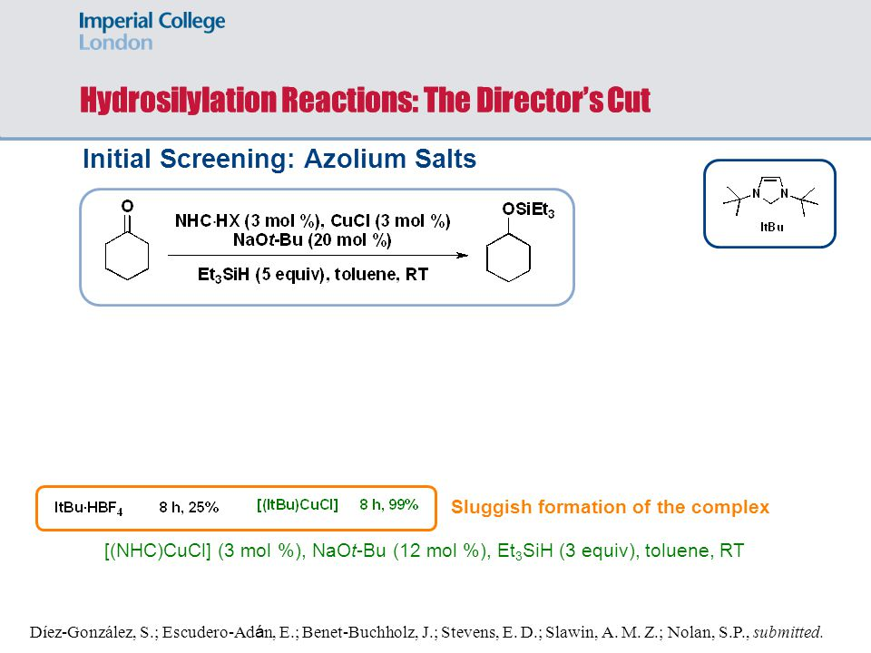 Hydrosilylation Reactions: The Director's Cut
