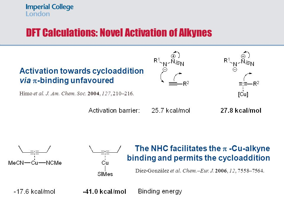DFT Calculations: Novel Activation of Alkynes