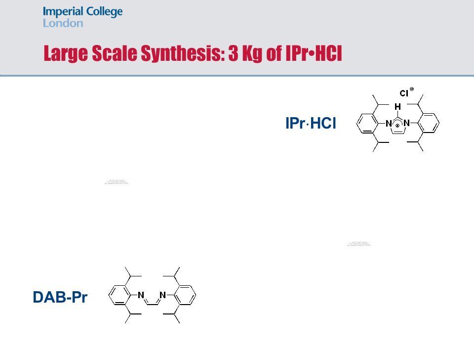 Large Scale Synthesis: 3 Kg of IPr•HCl