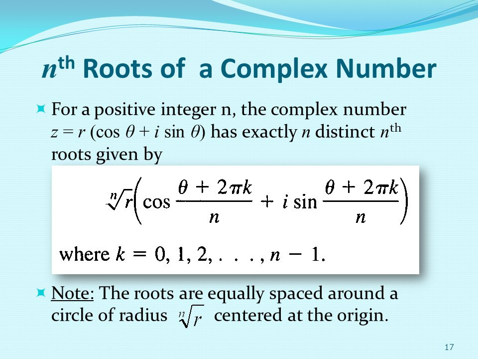 nth Roots of a Complex Number
