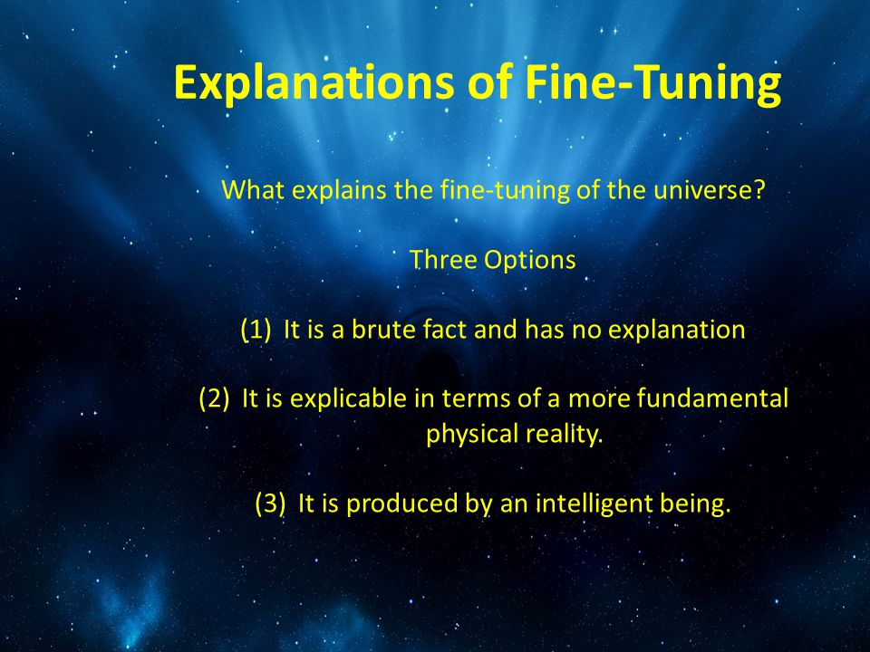 Explanations of Fine-Tuning