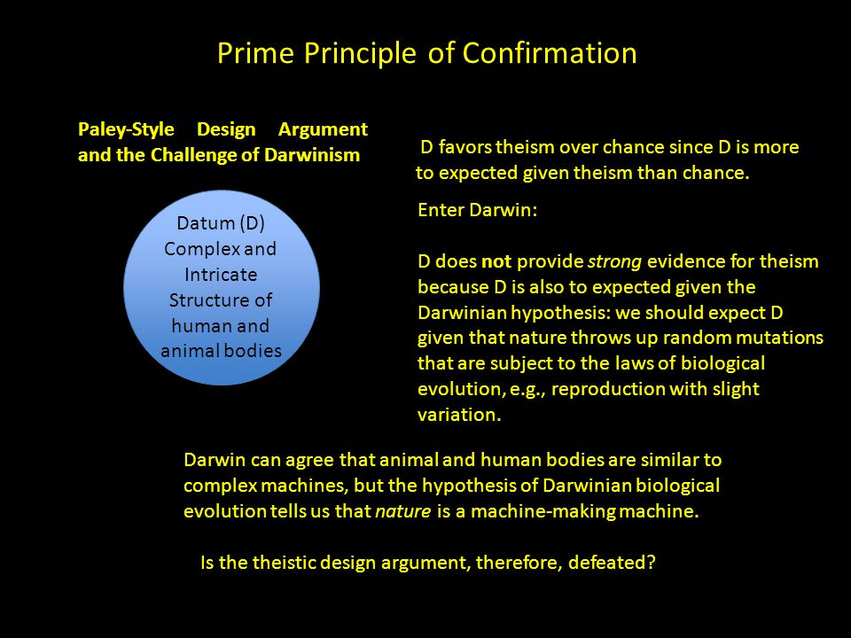 Prime Principle of Confirmation