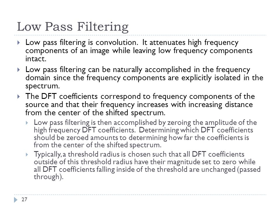 Low Pass Filtering