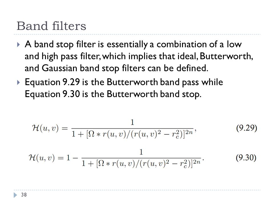 Band filters