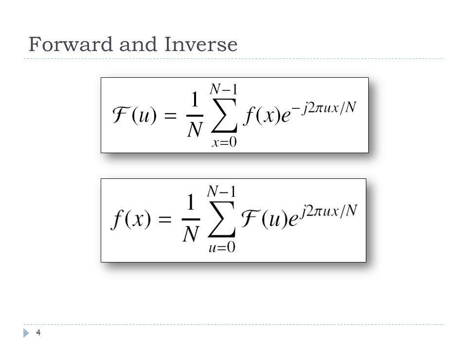 Forward and Inverse