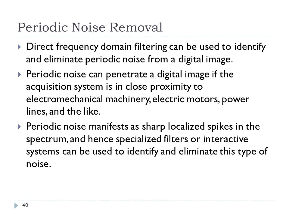 Periodic Noise Removal