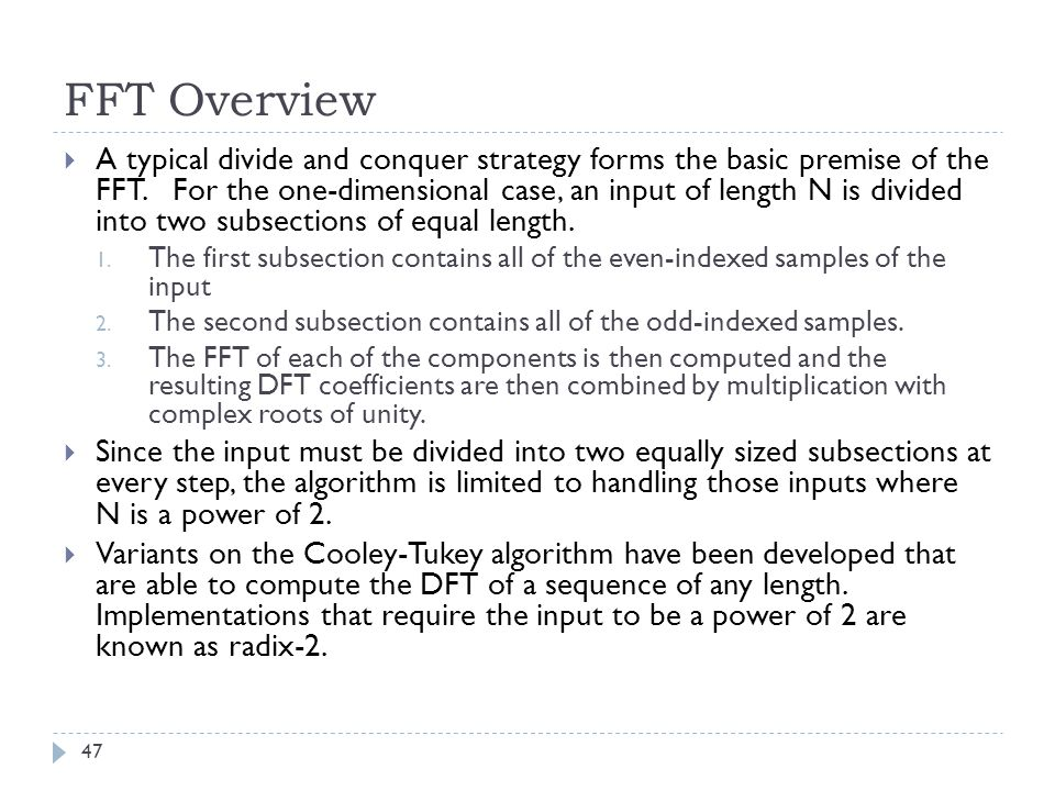 FFT Overview