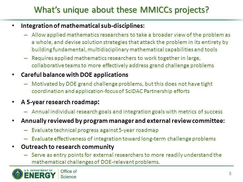 What's unique about these MMICCs projects