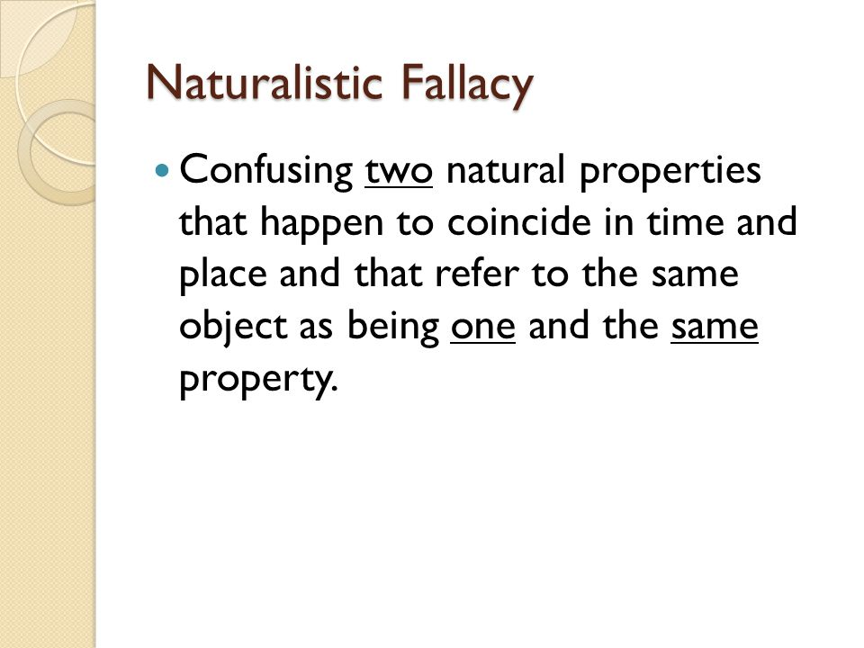 Naturalistic Fallacy
