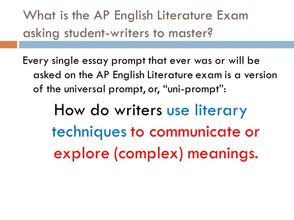 AP Literature and Composition: Schedule and Assignments