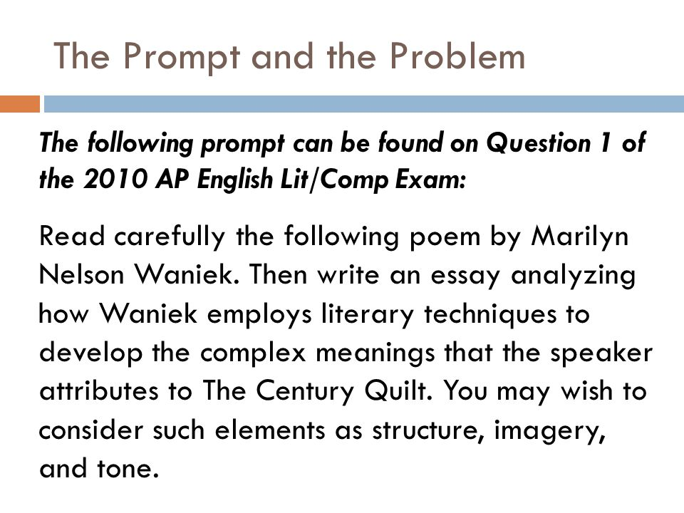 ap english lit composition essays Then in a well-developed essay, describe the dramatic situation the speaker relates to laverne and then analyze how the author uses poetic devices such as allusion,syntax, language, voice and structure to reveal the speaker's ironic tone and the author's satirical attitude toward social class.