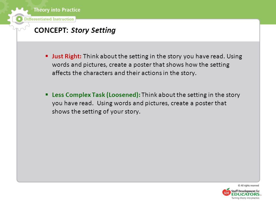 CONCEPT: Story Setting