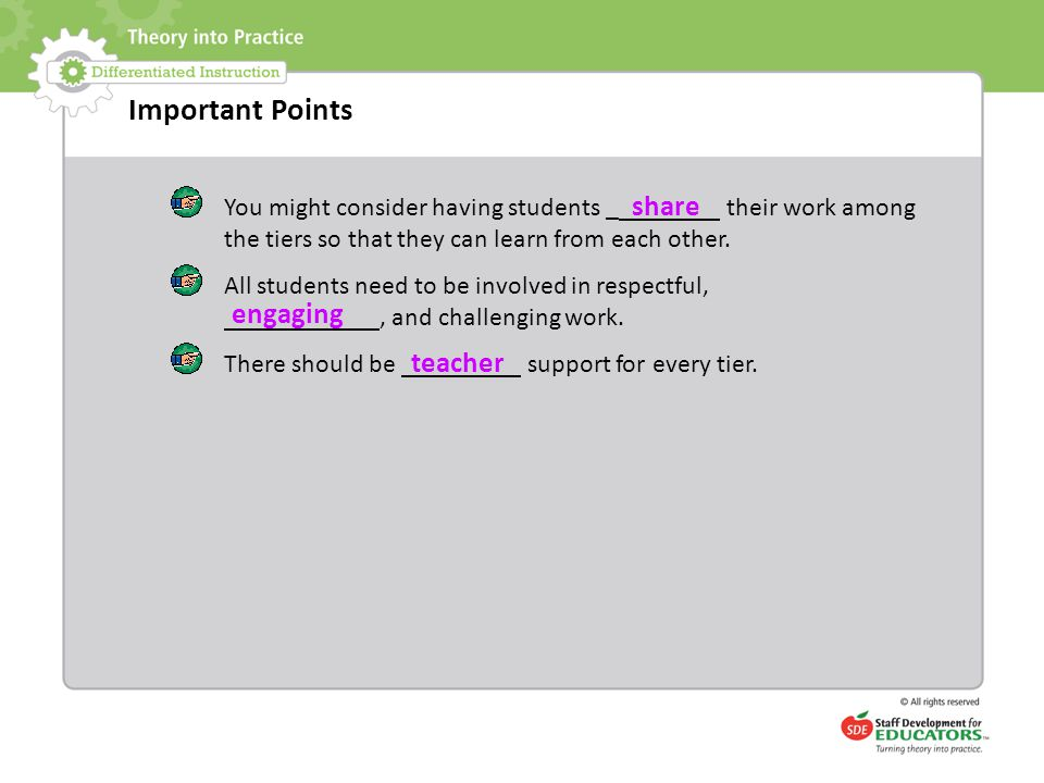 Important Points share engaging teacher