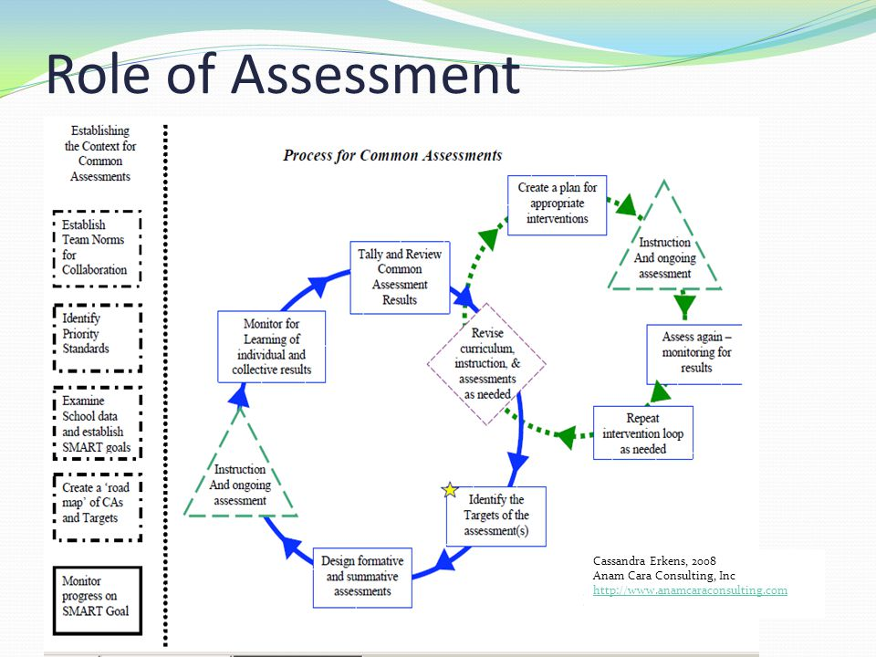 Role of Assessment Cassandra Erkens, 2008 Anam Cara Consulting, Inc