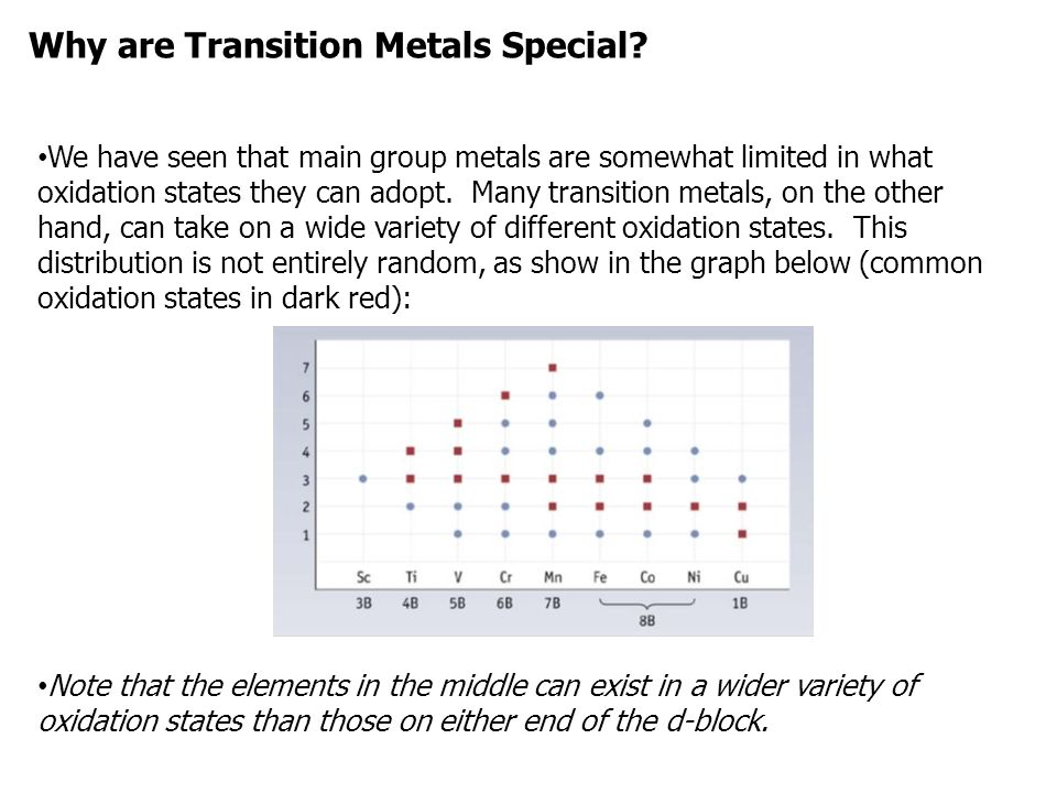 Why are Transition Metals Special