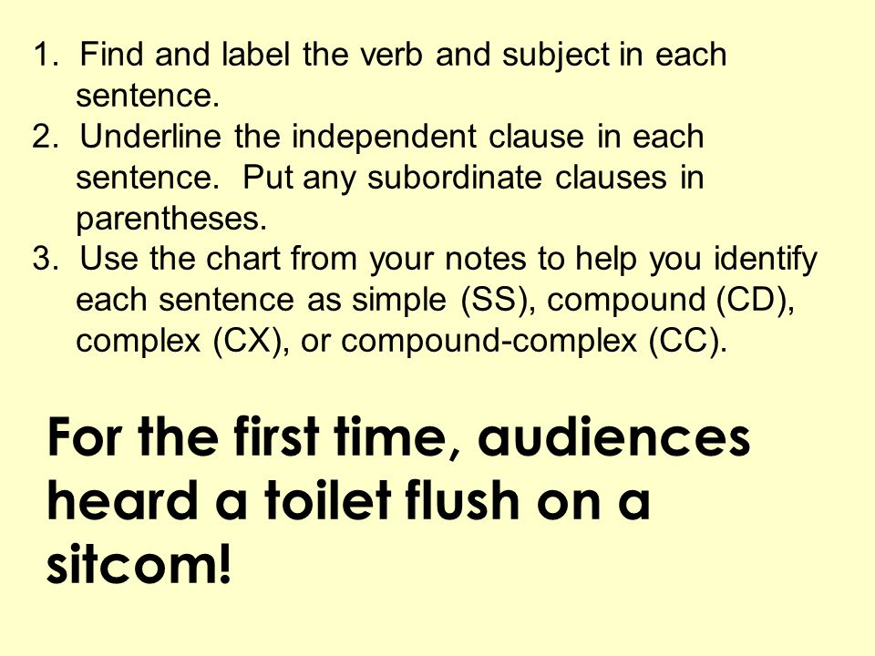 For the first time, audiences heard a toilet flush on a sitcom!