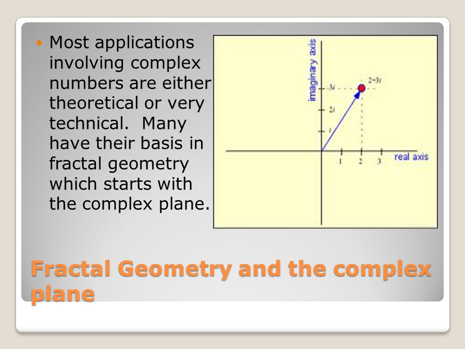 Fractal Geometry and the complex plane