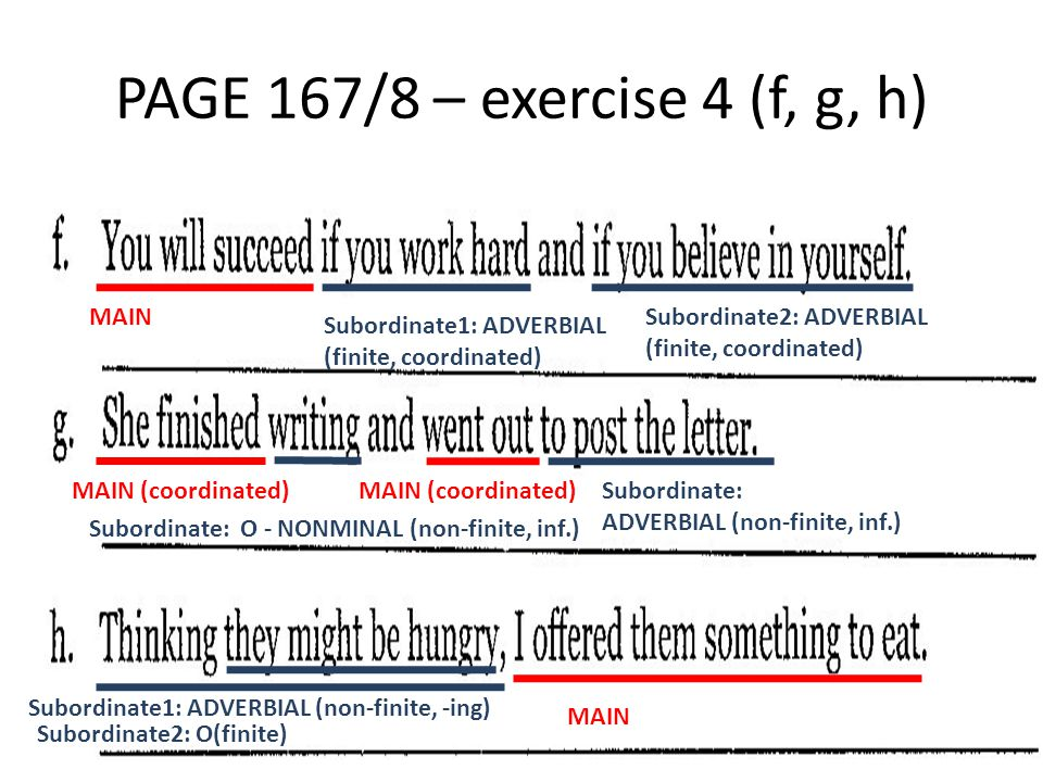 PAGE 167/8 – exercise 4 (f, g, h) MAIN