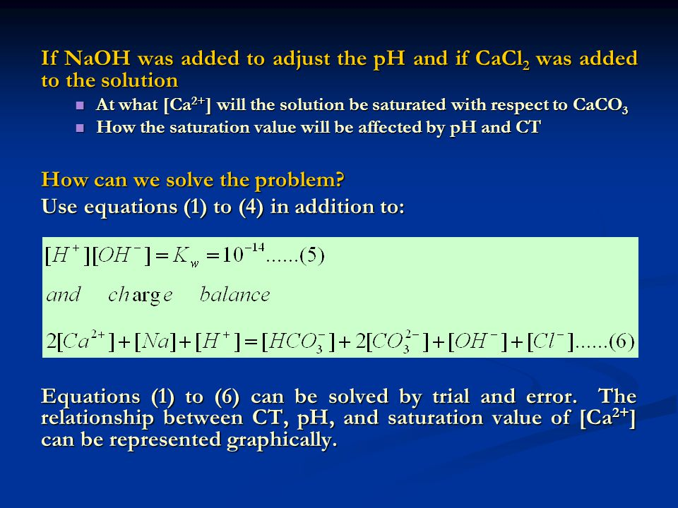 How can we solve the problem Use equations (1) to (4) in addition to: