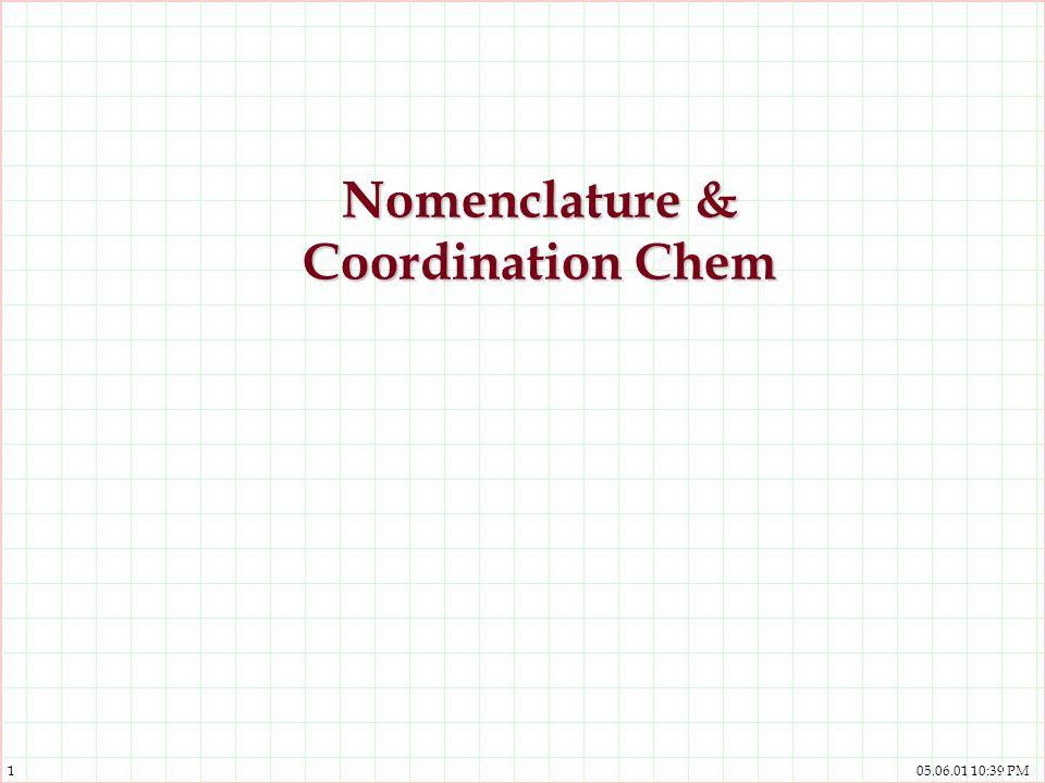 Nomenclature & Coordination Chem