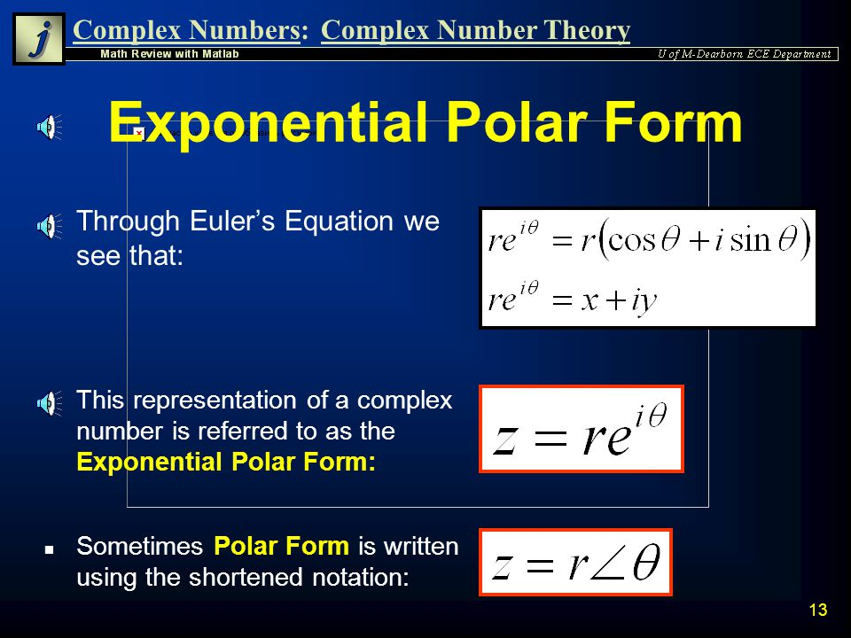 Exponential Polar Form