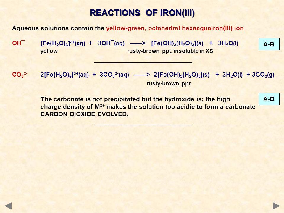 REACTIONS OF IRON(III)