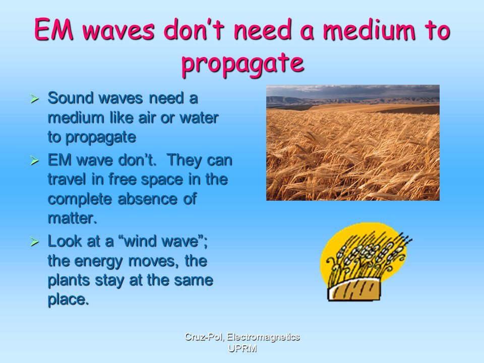 EM waves don't need a medium to propagate