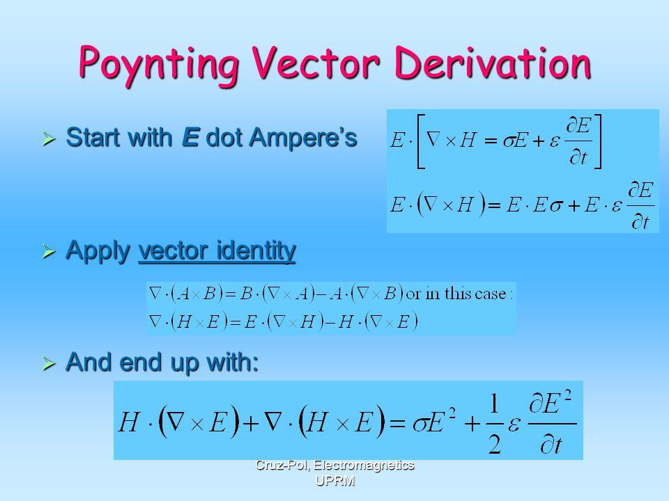 Poynting Vector Derivation