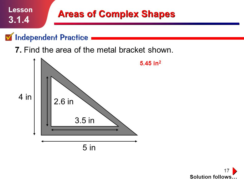 Areas of Complex Shapes