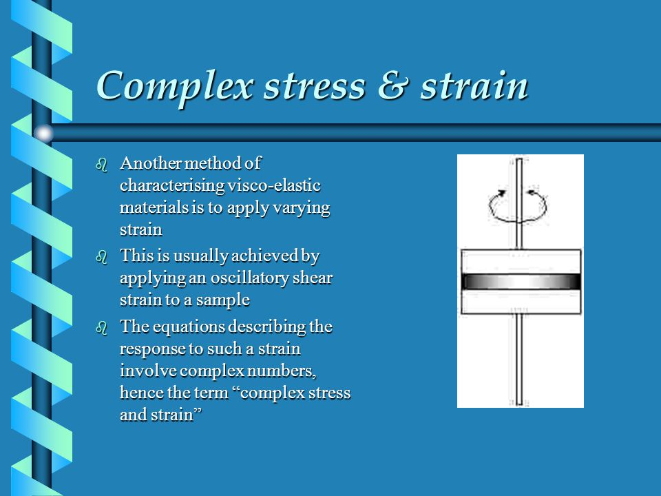 Complex stress & strain