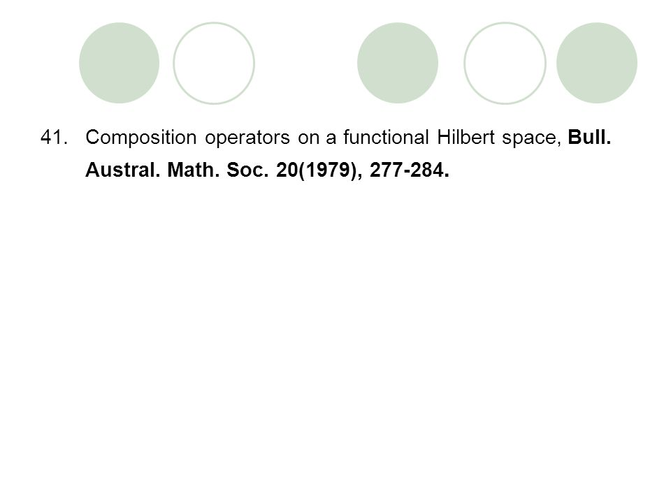 Composition operators on a functional Hilbert space, Bull. Austral