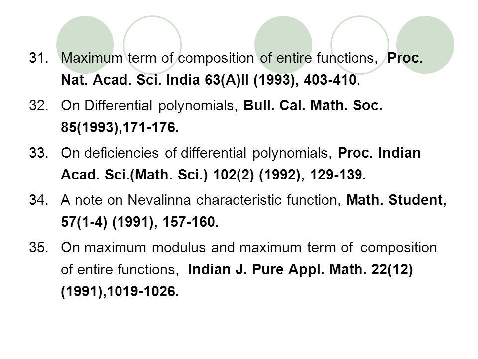Maximum term of composition of entire functions, Proc. Nat. Acad. Sci