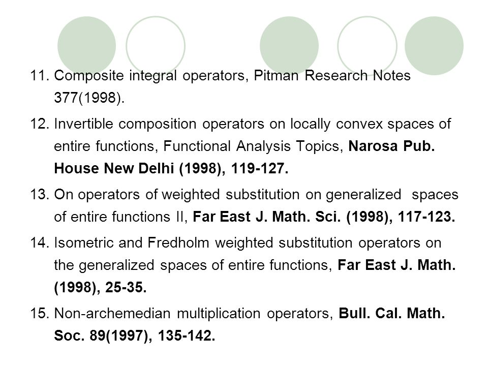Composite integral operators, Pitman Research Notes 377(1998).