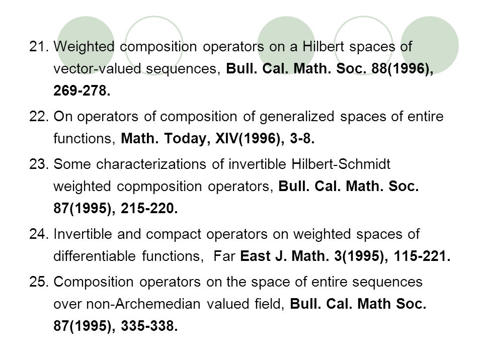 Weighted composition operators on a Hilbert spaces of vector-valued sequences, Bull. Cal. Math. Soc. 88(1996), 269-278.